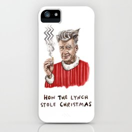 How the Lynch Stole Christmas - Funny Twin Peaks Holiday Illustration iPhone Case