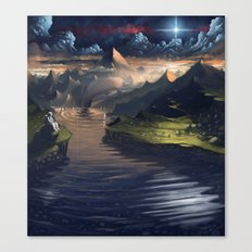Under the Miky Way Canvas Print