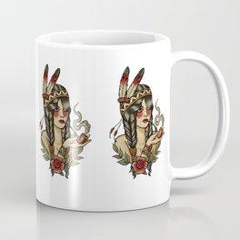 Squaw smoking a pipe Coffee Mug