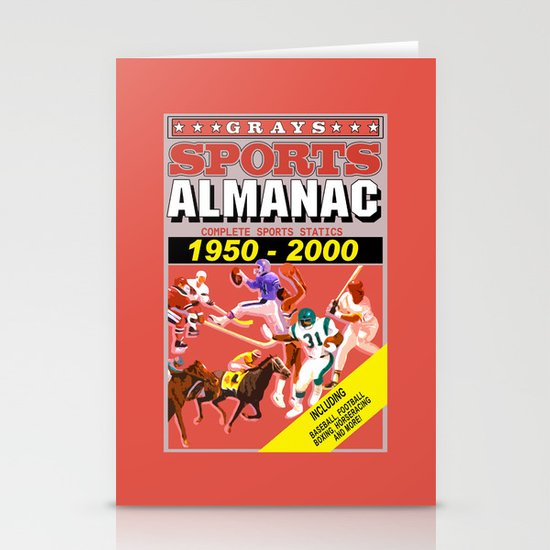 Back to the Future: Sports almanac Stationery Cards