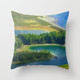 Colorful lake Throw Pillow