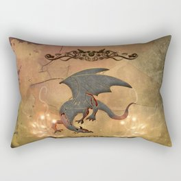 Wonderful dragon with floral elements Rectangular Pillow