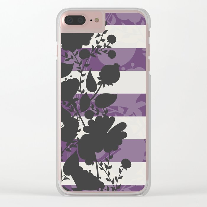 FLORAL IN VIOLET Clear iPhone Case