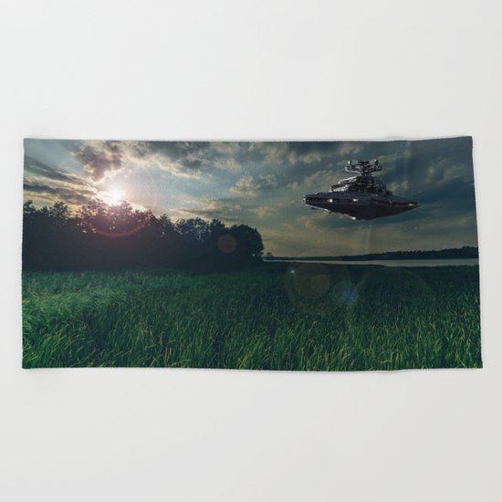 The calm before the storm Beach Towel