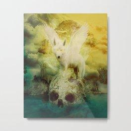 The White Wolf Metal Print