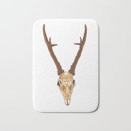 Skull of roe deer Bath Mat