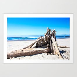 Drift wood Fort Art Print