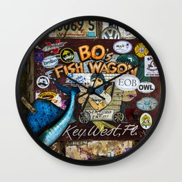 B.O's Fish Wagon Wall Clock