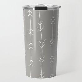 Grey, Fog: Arrows Pattern Travel Mug