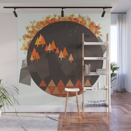 In the mountains Wall Mural