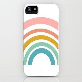 Simple Happy Rainbow Art iPhone Case