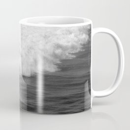 Lone Surfer in Black and White Coffee Mug