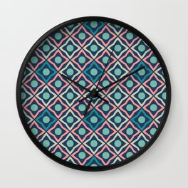 Flowers geometric pattern Wall Clock