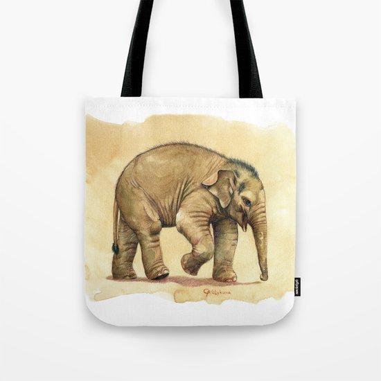 Baby elephant A081 Tote Bag