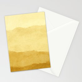 Ombre Waves in Gold Stationery Cards