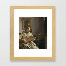 """Johannes Vermeer """"The Guitar Player"""" Framed Art Print"""