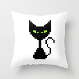 El Gato Negro Throw Pillow