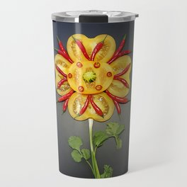 Chili Flower Travel Mug