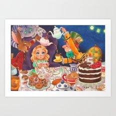 The Mad Tea Party Art Print