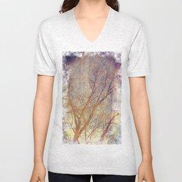 Galaxy + Nature Reflection Unisex V-Neck