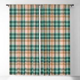 Celtic plaid forest Blackout Curtain