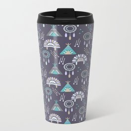 Indian Pattern Purple Travel Mug
