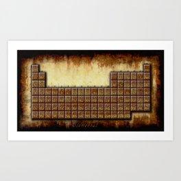 A Steampunk Periodic Table Art Print