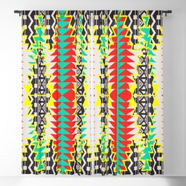 Tribal Beat Geo Neon Blackout Curtain