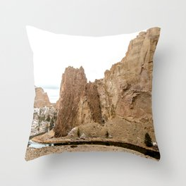 Smith Rock Oregon Desert Sunset - Nature Photography Throw Pillow
