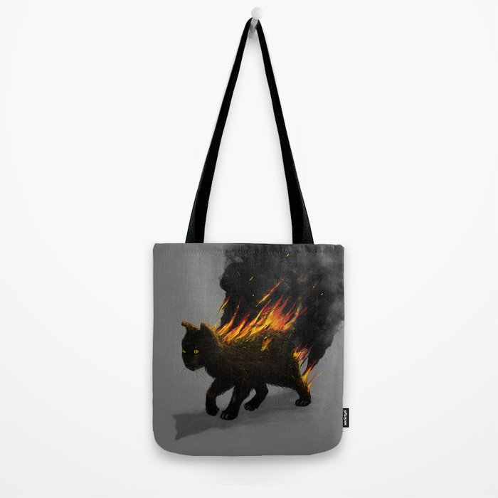 This Cat Is On Fire! Tote Bag