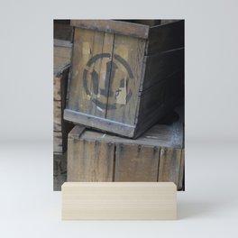 Vintage Wooden Wabi-Sabi Japanese Shipping Crates Mini Art Print