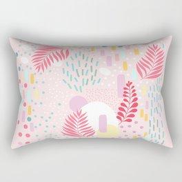 Organic Nature - Colourful Doodle Pattern 4 Rectangular Pillow