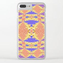 Autumn Micro Fractal Geometric Clear iPhone Case
