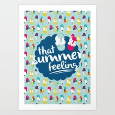 That summer feeling - Blue Art Print
