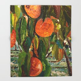 Jimmy and the Giant Peach Tree Throw Blanket