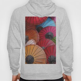 Paper Colored Umbrellas from Laos Hoody