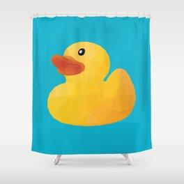 Rubber Duck Polygon Art Shower Curtain