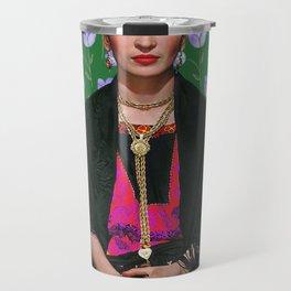 Flowers Frida Kahlo I Travel Mug