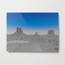 Monument Valley in Blue Metal Print
