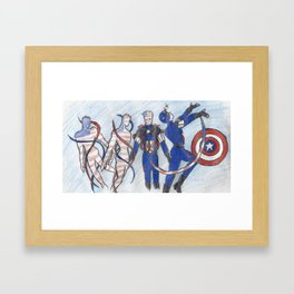 Sailor Cap Framed Art Print