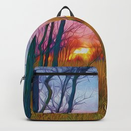 Wetland Sunset Backpack