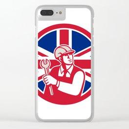 British Engineer Union Jack Flag Icon Clear iPhone Case