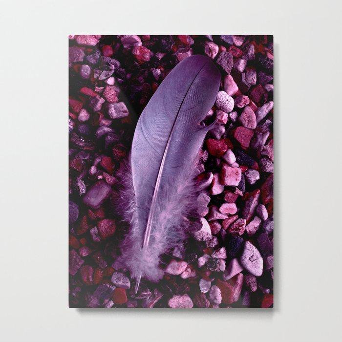 purple feather macro XXI Metal Print