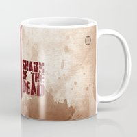 shaun of the dead Mugs featuring SHAUN OF THE DEAD by VineDesign