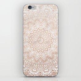 Mandala - rose gold and white marble 3 iPhone Skin