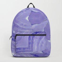 Jade Agate Stone Flower Violet Backpack