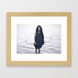 Boy in the Water Framed Art Print