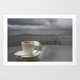 Coffee Before the Storm Art Print