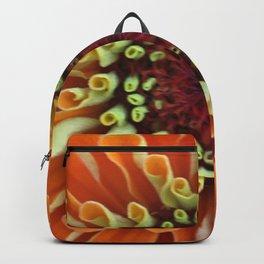 Orange Zinnia Close Up Backpack