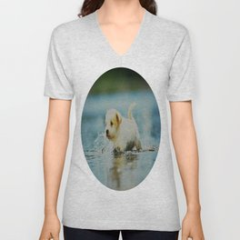 Splish - Splash, puddles are fun Unisex V-Neck